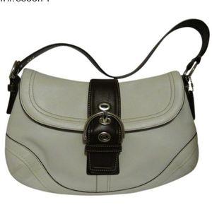 Coach leather foldover snap closure shoulder bag